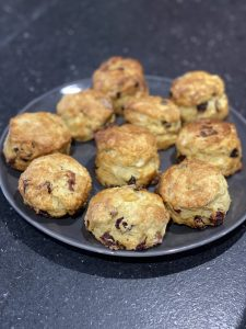 Bacon and Cranberry Scones